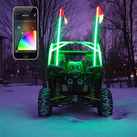Light Whips For Atv by Xkglow Xkchrome Ios Android App Bluetooth Smartphone