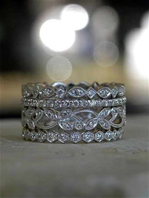 stacked eternity wedding bands stacking eternity bands on my right can t wait to