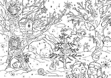 christmas coloring pages adults 2017 dr odd