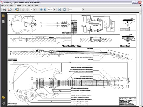gibson sg template tutorial print 100 scale mock ups on a home printer
