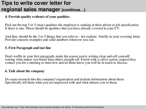 Regional Sales Cover Letter by Regional Sales Manager Cover Letter