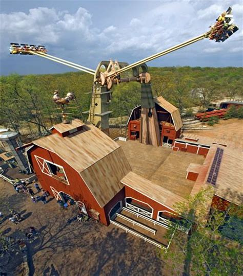 The Big Barn Swing At Silver Dollar City Amusement Park