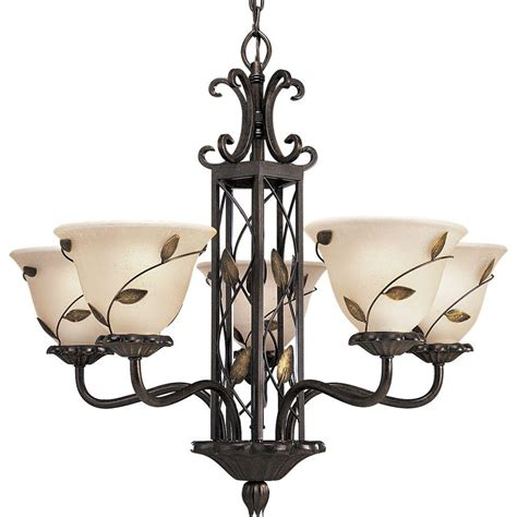 Bronze Chandelier Lighting Progress Lighting Collection 5 Light Forged Bronze Chandelier P4023 77 The Home Depot