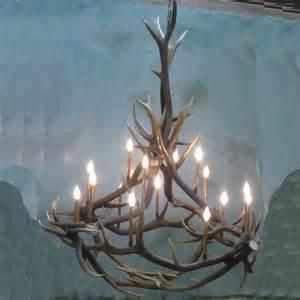 antlers chandelier big nelson elk antler chandelier