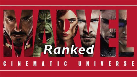 marvel film rankings mcu movie rankings all the marvel movies ranked youtube