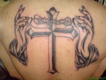 cross and hands tattoo cross and jesus
