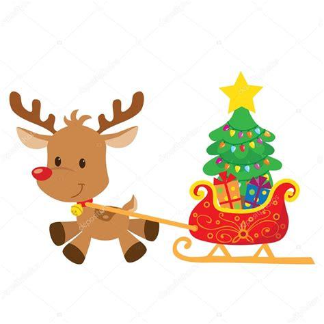 imagenes de navidad animados renos de navidad vector ilustraci 243 n de dibujos animados