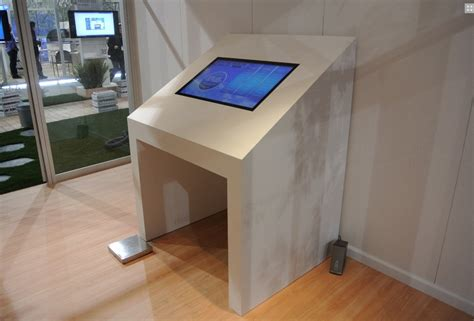 Touch Screen Conference Table Touchscreen Interactive Table Technology For Trade Shows