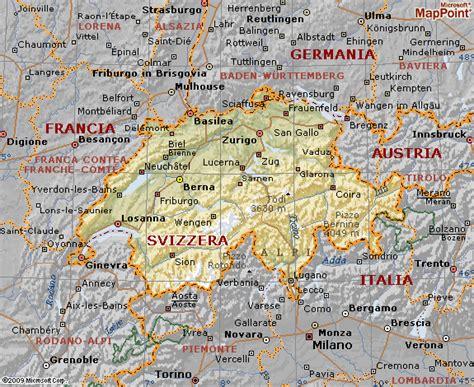 della svizzera italiana svizzera mappa fisica