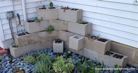 cinder block planter building a concrete block planter get busy gardening
