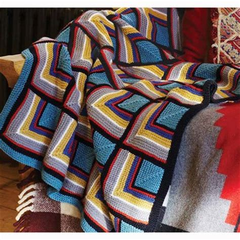 knits log cabin blanket debbie bliss log cabin blanket pdf magazine 9 at webs