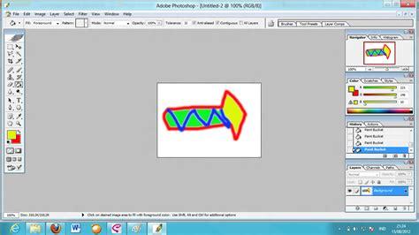 untuk membuat objek anak panah membuat icon anak panah sendiri untuk mengganti tulisan