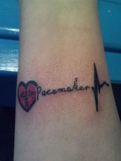 pacemaker tattoo pacemaker medical id tattoo i just got pacemaker