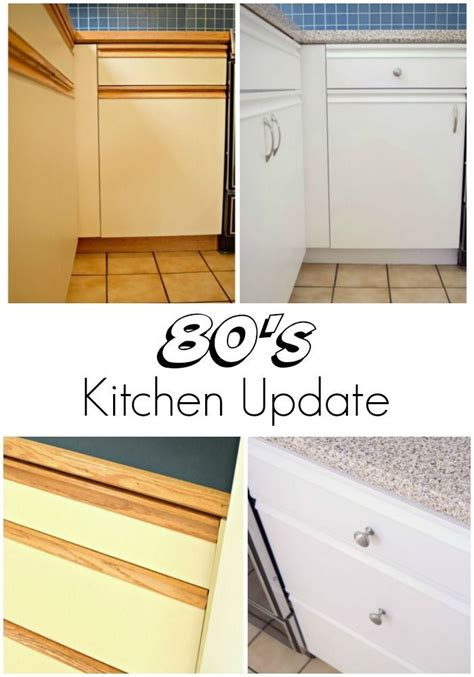 Updating Laminate Kitchen Cabinets Update Your 80s Kitchen With Some Paint And New Hardware This Handy Tutorial Will Show You