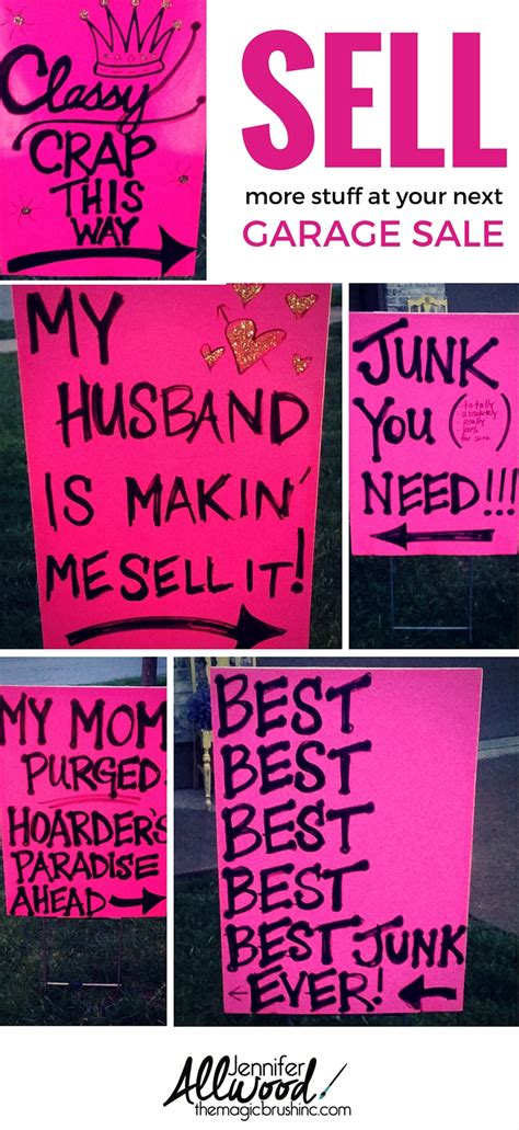 Best Way To Advertise A Garage Sale by How To Advertise For A Garage Sale With Clever Signs