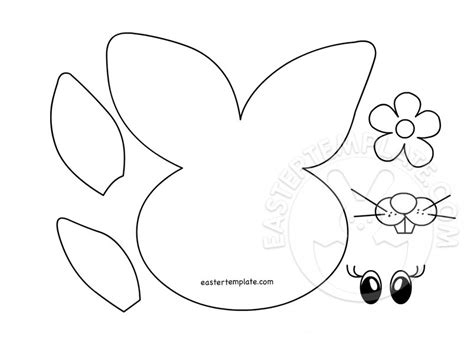 free printable easter coloring pages crafts easter bunny paper craft easter template