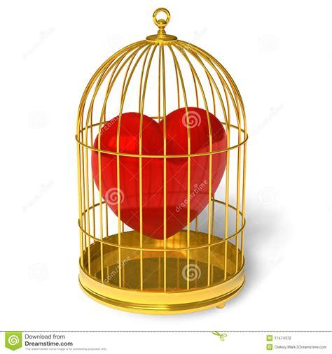 in gabbia cuore in gabbia fotografia stock immagine 17474372