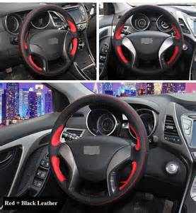 Hyundai Elantra Steering Wheel Cover Aliexpress Buy Xuji Black Leather Car Steering