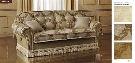 klassische sofas esf decor 3pc fabric living set made in italy usa