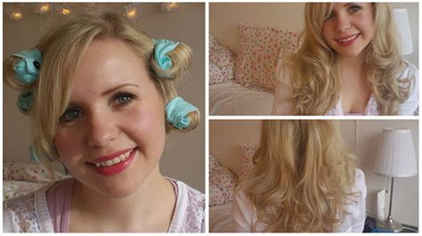 diy hairstyles no heat diy hair rollers no heat curls tutorial youtube