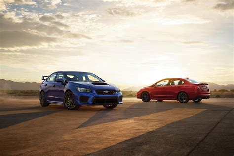 subaru fire refreshed 2018 subaru wrx sti receive minor updates but