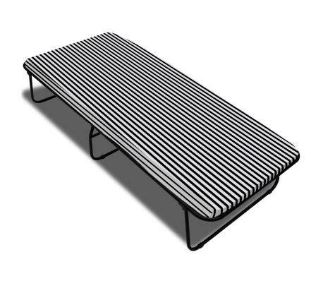 materasso 190x80 vidaxl letto con materasso 190 x 80 x 40 cm pieghevole