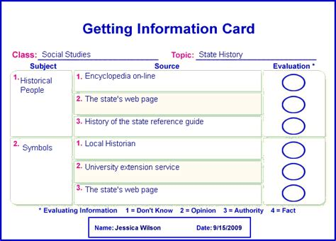 Free Templates For Info Cards For Students by Information Card Template 28 Images 28 Information