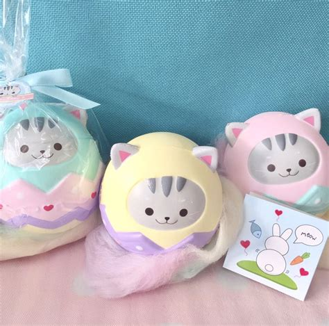 a squishy tabby egg squishy floral scented licensed