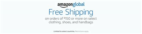 amazon international free shipping free international shipping promo on purchase of 150