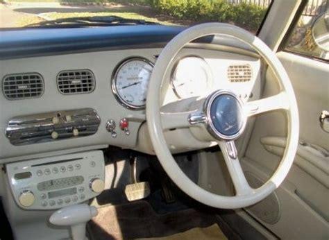 nissan figaro interior rarity retro styled 1991 nissan figaro cabrio bring a