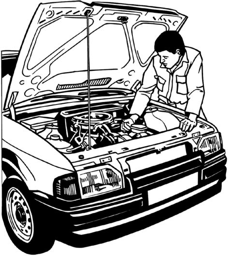 mechanic drawing auto mechanic drawing