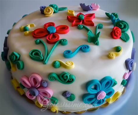 fiori con pasta di zucchero tecnica torta pasta di zucchero quilling golosissime