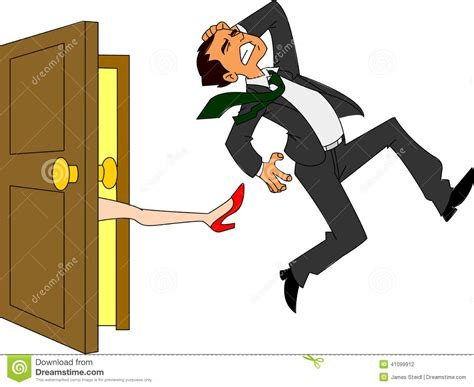 kicking someone out of your house businessman kicked out stock vector image 41099912