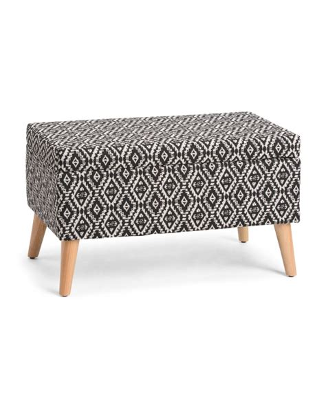 Patterned Storage Ottoman Patterned Storage Ottoman Bedroom T J Maxx
