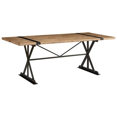magnolia home trestle table magnolia home by joanna gaines industrial truss and