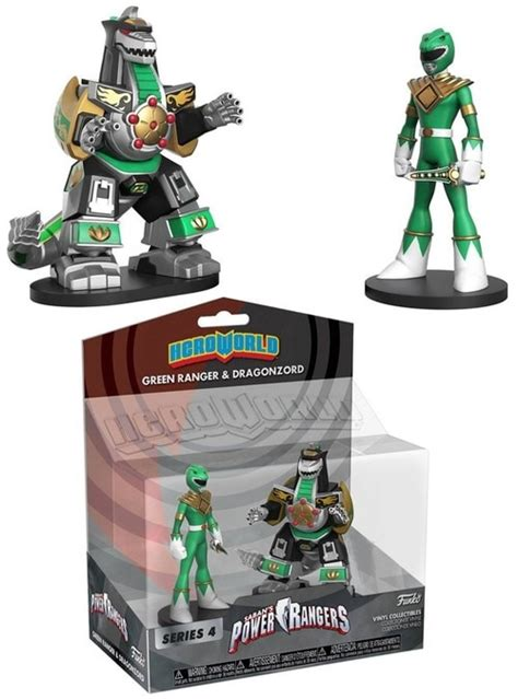 funko power rangers world series 4 green ranger zord exclusive 4 vinyl figure 2 pack