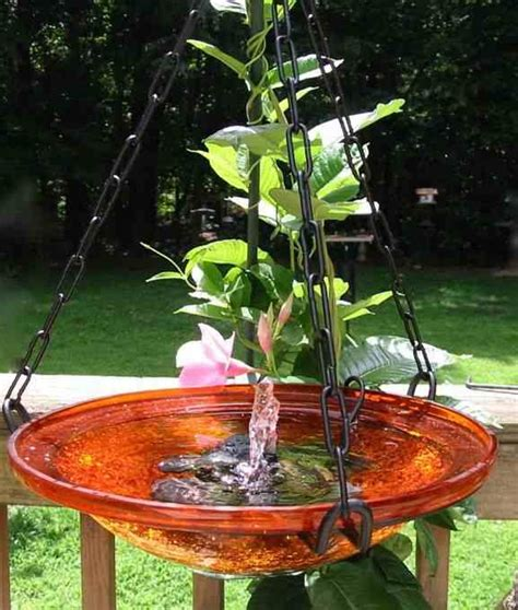 solar bubbler hanging bird bath bathing colors and solar