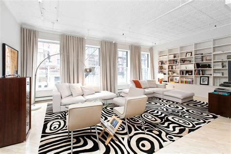 living room soho stylish soho loft in new york features a trendy black and
