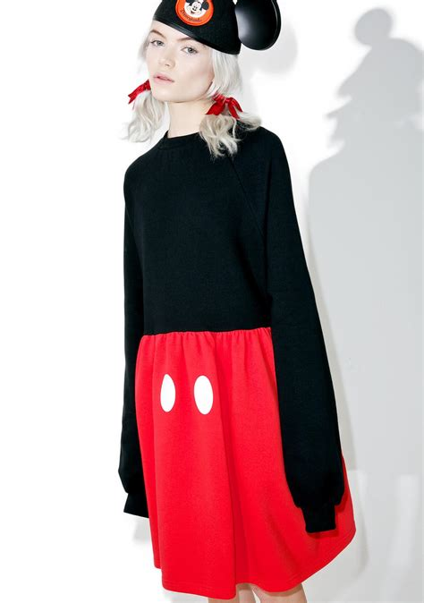 Dress Micky lazy oaf x disney mickey mouse sweater dress dolls kill