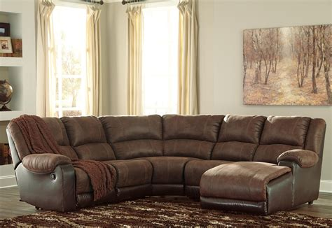 leather sectional sofa ashley furniture ashley signature design nantahala faux leather reclining