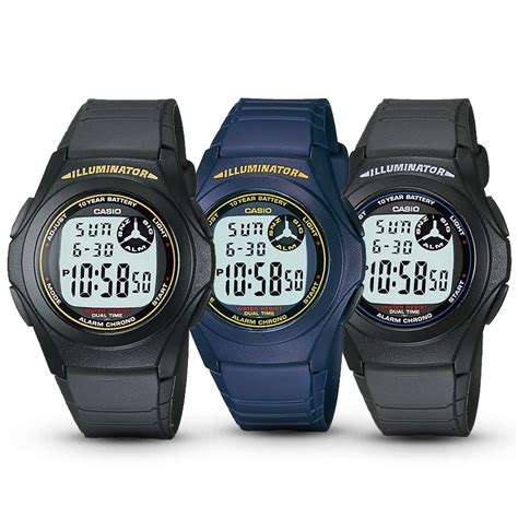 Jam Tangan Casio F 200w 9a F 200w 9a Digital Original jam tangan casio digital f 200 w series elevenia