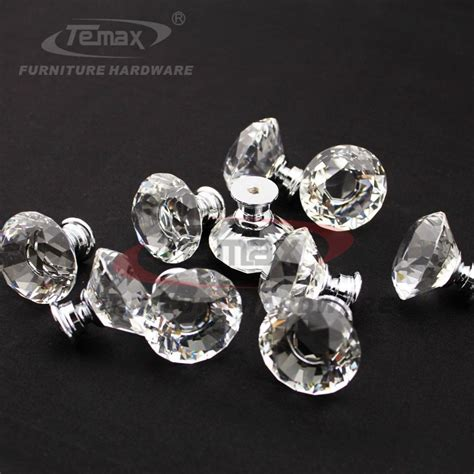 10 zinc alloy clear glass sparkle cabinet drawer