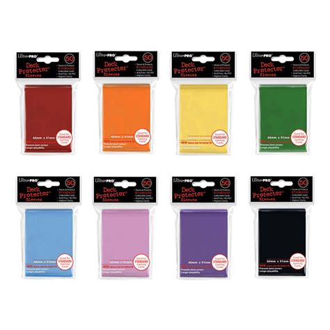Ultra Pro Card Sleeve 69x69 Mm card sleeves ultra pro solid colour standard sized