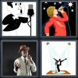 4 pics 1 word answer for singer, disco, jazz, performer
