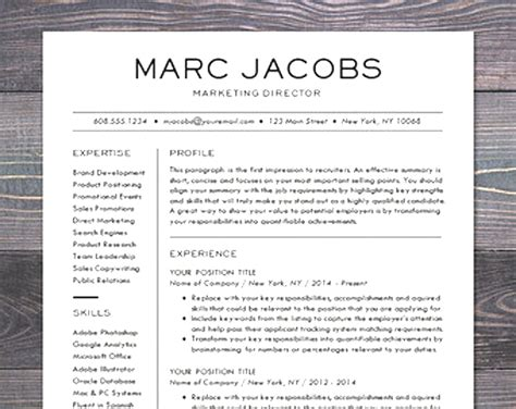 modern resume template word format modern resume template gallery cv letter and