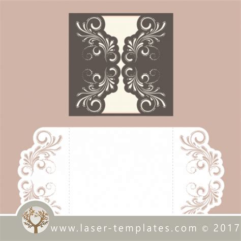 Laser Cut Wedding Invitations Template Free Vector Designs Every Day Wedding Invite 2 Laser Laser Ready Templates