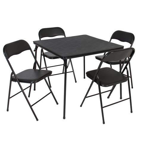Folding Card Table And Chairs 5 Pc Set by 5pc Folding Table Chairs Card
