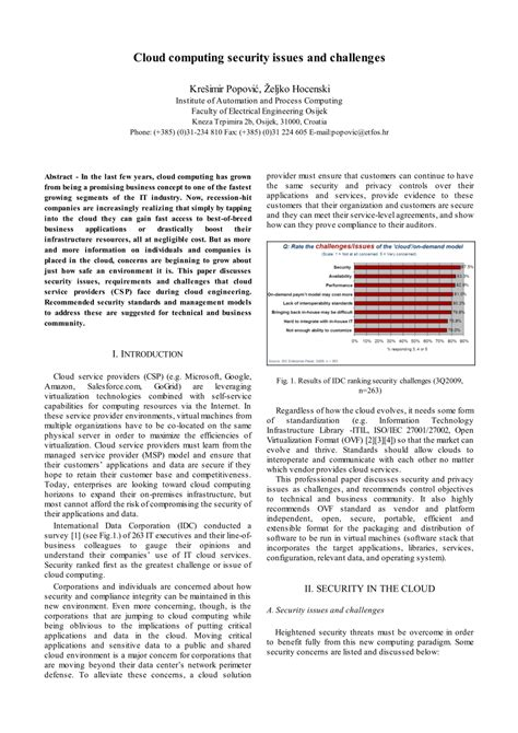 cloud computing security issues research papers cloud computing security issues and pdf