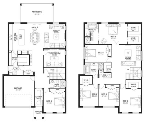 double story floor plans big double storey house plans home deco plans