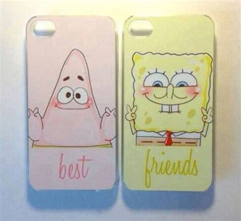 best friend phone cases jewels bff phone phone cover spongebob and wheretoget